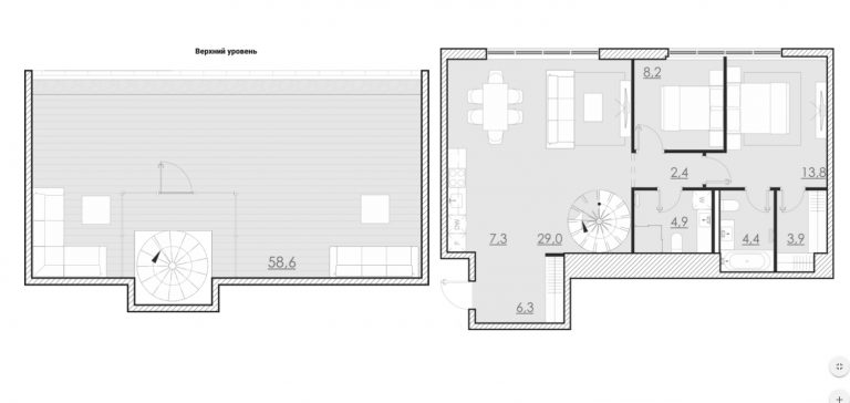 Пентхаус 133,00 м² ЖК «Bolshevik (Большевик)»