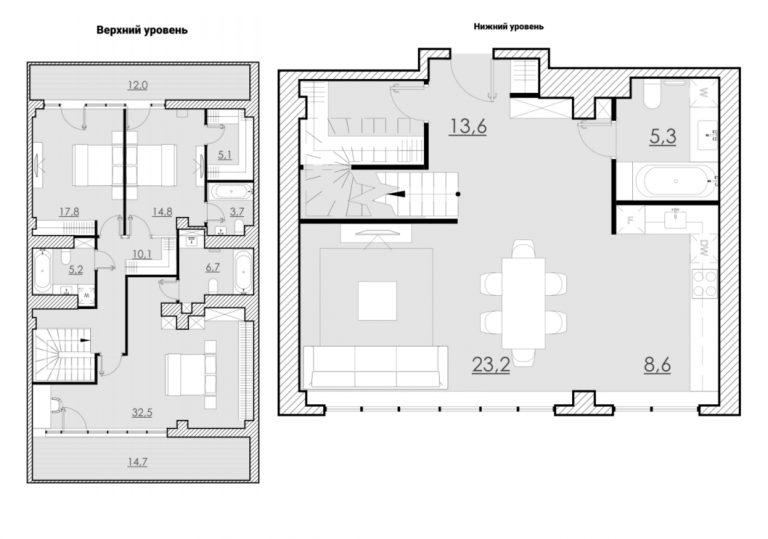 Пентхаус 186,00 м² ЖК «Bolshevik (Большевик)»